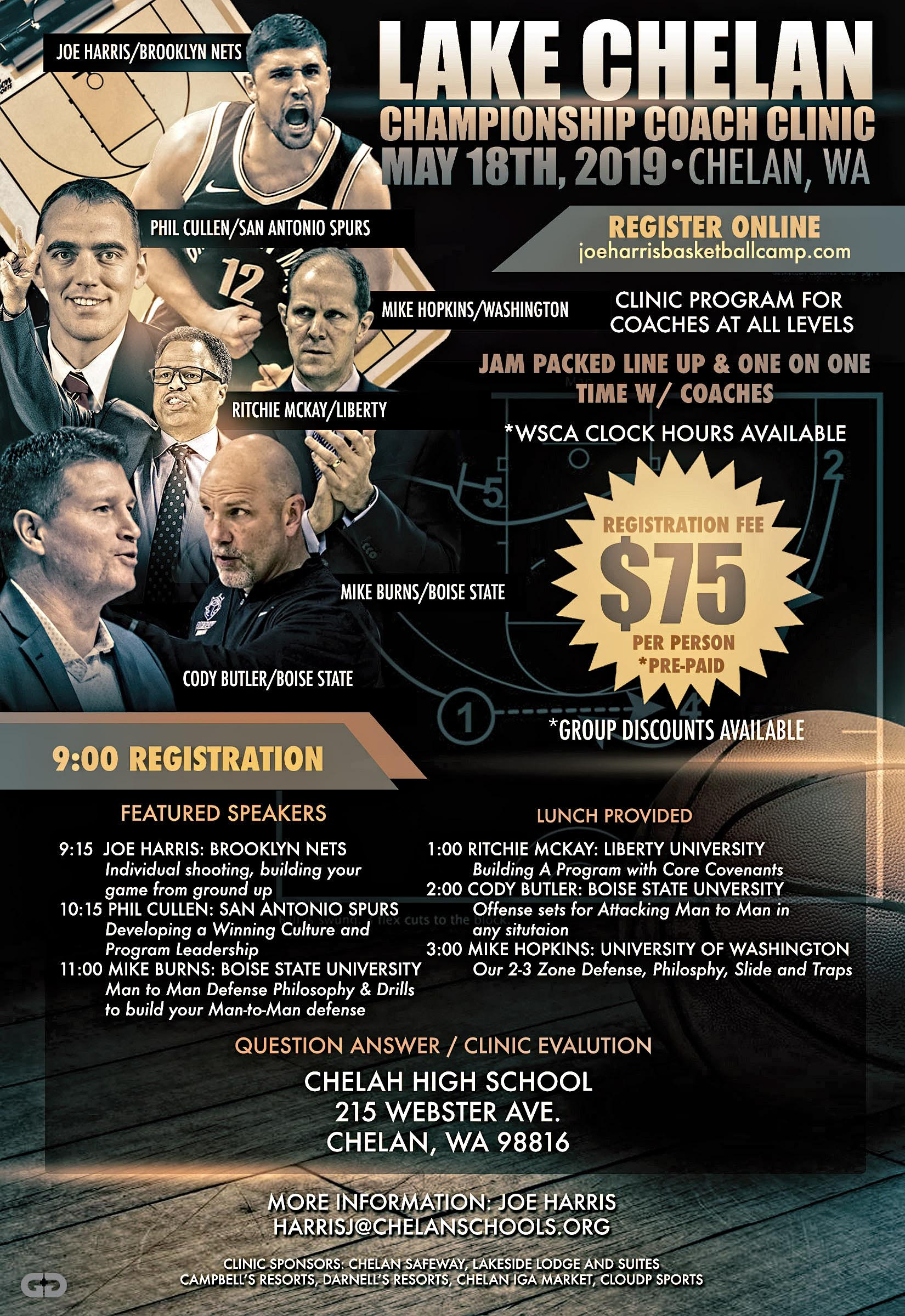 Image of poster for the Lake Chelan Coaching Clinic