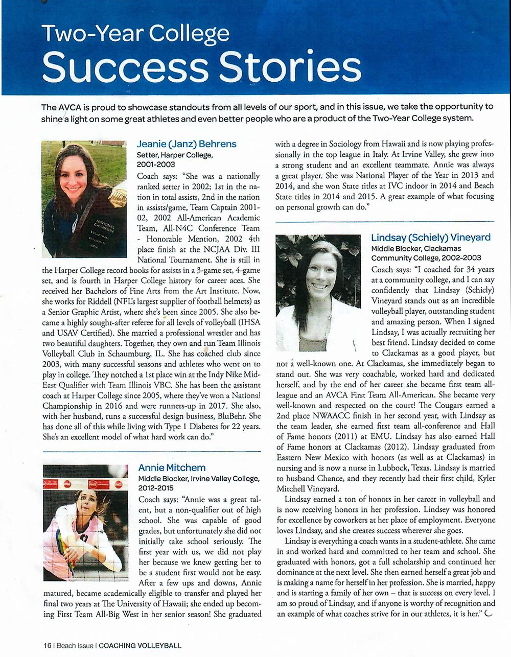 AVCA article page scan