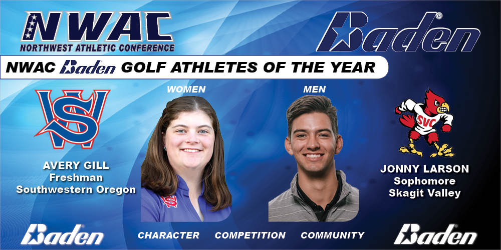 Avery Gill & Jonny Larson Baden Golf Athletes of the Year Graphic