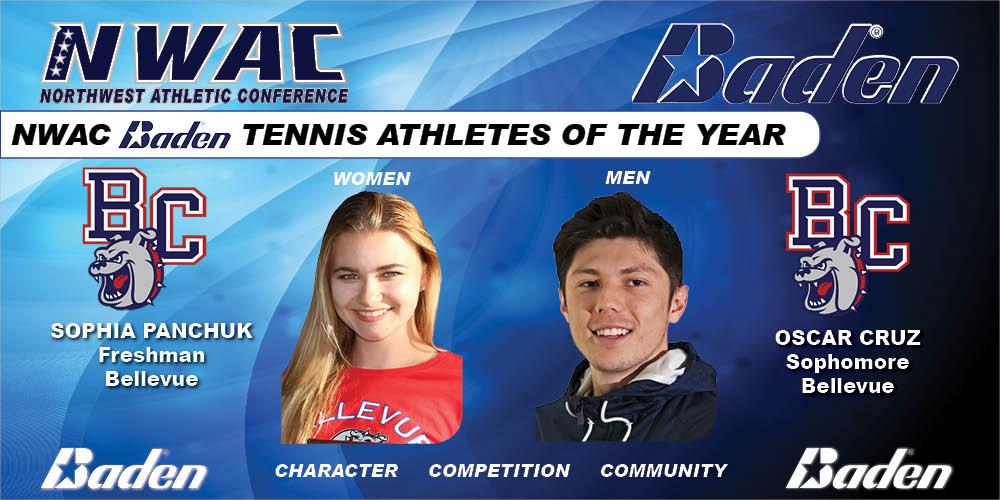 Sophia Panhcuk & Oscar Cruz  Baden Tennis Athletes of the Year Graphic